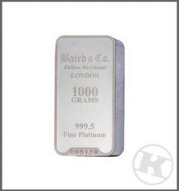 1kg Platinum Bar