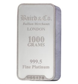 100 Gram Platinum Bar