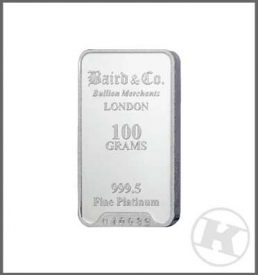 100g Platinum Bar