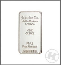 1oz Platinum Bar