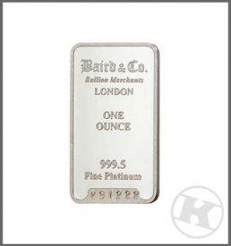 1oz Platinum Bar