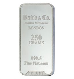 250 Gram Platinum Bar