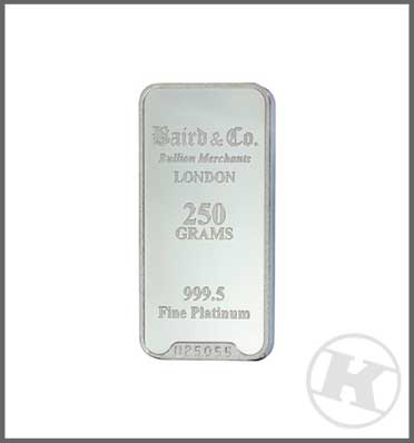 250g Platinum Bar