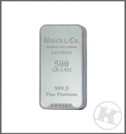 500g Platinum Bar