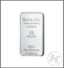 50g Platinum Bar