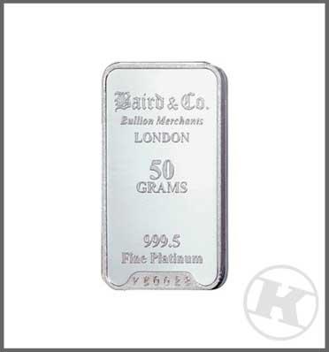 50g Platinum Bar