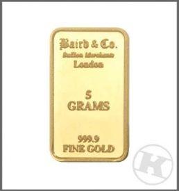 5 Gram Gold Bar