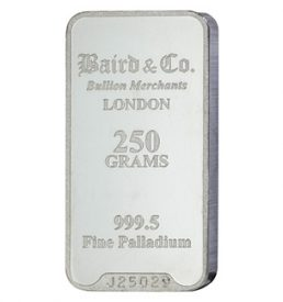 250 Gram Bullion Palladium Bar