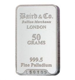 50 Gram Palladium Bar