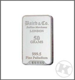 50g Palladium Bar