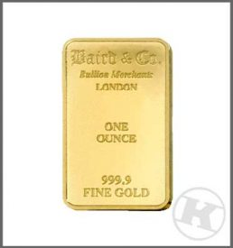 One Oz Gold Bar