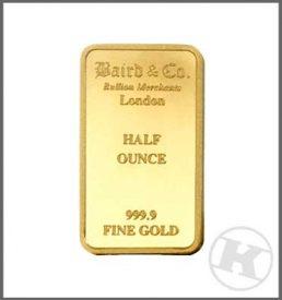 gold half ounce bar